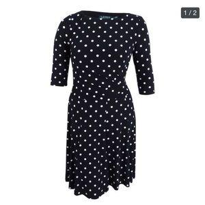 Ralph Lauren black and white polka dot dress